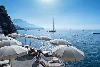 Hotel on the Amalfi Coast with private beach